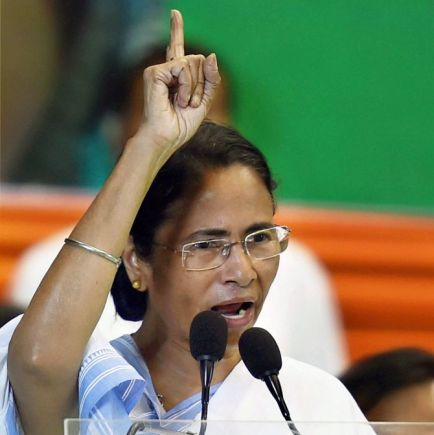 Kolkata: TMC supremo and West Bengal Chief Minister Mamata Banerjee addresses during the party's organizational elections in Kolkata on Friday. PTI Photo by Swapan Mahapatra (PTI4_21_2017_000071B)